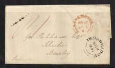 1841 PRE STAMP ENTIRE LETTER LIVERPOOL TO BROSELEY IRONBRIDGE INTACT BLACK SEAL