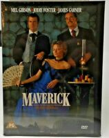 Maverick [1994] (DVD) Mel Gibson, Jodie Foster, James Garner, Graham Greene