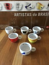 Illy Collection Espresso Cups & Saucers 2001 Set of 6 ARTISTAS DO BRAZIL