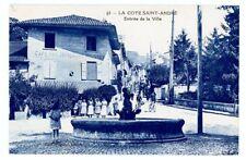 (S-70550) FRANCE - 38 - LA COTE ST ANDRE CPA CAFE DES VOYAGEURS HOUSSET - FONTAI