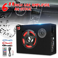 6'' 350W 12V Compact Car Subwoofer Stereo Active Amplifier Under Seat Speake