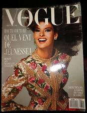 Vtg Vogue Paris 9/1987 Linda Evangelista Naomi Campbell Cindy Crawford Lagerfeld