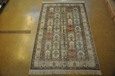5x8 Silk Bakhtiari Handmade Rugs Wholesale Multi-Color - Ivory Carpet
