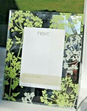 Next Mirrored Glass Etched Frame Green Photo stand