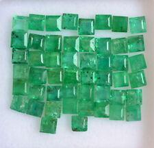 Natural Emerald Square 2.25 mm Lot 15 Pcs 1.13 Cts Green Shade Loose Gemstones