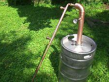"""Beer Keg Kit 2"""" inch Pipe Copper Moonshine Still Pot Still Distillation Column"""