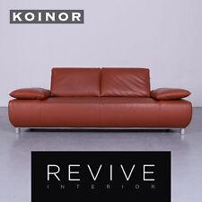 Koinor Volare Designer Leder Sofa Rot Echtleder Couch #6293