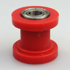 8mm id chain roller tensioner guide wheel chinese dirtbike pit bike Red