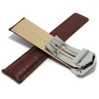 Replacement Leather Watch Band Strap Fit For Tag Heuer Carrera CV2013-3 BROWN