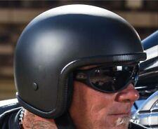 Chopper Helmet Low Profile Motorcycle Helmet Matte Black For Harleys Lowest New