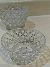 Set of 4 Waterford Heavy Lead Crystal cut glass Fruit bowl diamond point
