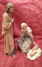 Nao by Lladro Collectible Porcelain Figurine: NATIVITY set w/ Mary, Joseph, and