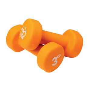 Fitness Mad Dumbbells Neoprene Covered 2 x 3kg - Orange