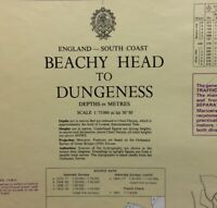 ADMIRALTY  SEA  CHART. BEACHY HEAD to DUNGENESS.No.536. ENGLAND S. COAST. 1973.