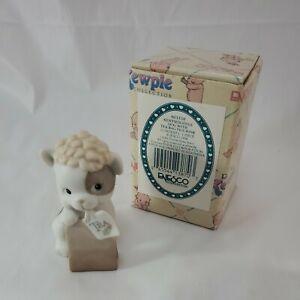 Rare 1993 Jesco Kewpie Doodle Dog With Tea Bag Figurine - By Enesco W/Box & Tag
