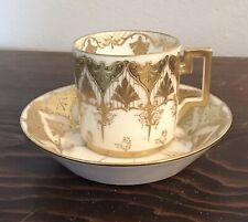Art Nouveau Jugendstil Gold Trim Porcelain Cup Bowl Austria Bavaria Beehive