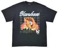 Vintage New York Yankees Skyline Tee Black Size L Mens T Shirt 2002 MLB Baseball