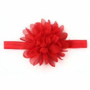 Flower Hairband Elastic Headband Child Baby Chiffon Newborn Girl Kid Hair Rubber