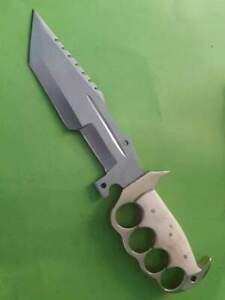 "Custom Handmade D2 Steel Knife 13"" Hunting/Survival/Combat Tanto Knife Easy Grip"