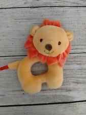 Fisher Price Plush Round Lion Rattle Toy Orange Velvet Yellow Super Soft Lovey