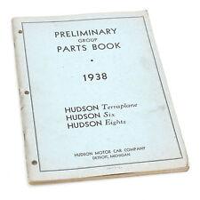 1938 Hudson Preliminary Group Parts Book