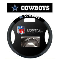 Dallas Cowboys Black Poly Mesh Suede Steering Wheel Cover Car Truck SUV NFL