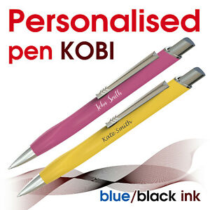 Promotional personalised pen *KOBI* blue/ black ink *school leavers* gift boxes