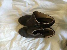Alberto Fermani Gray Suede Women's Diva Ankle Boots SIZE 37 1/2
