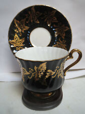 Sutherland - Teacup and Saucer - Black and Gold