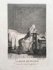 MARIE-ANTOINETTE D´ AUTRICHE,La Reine de France dans sa dernière prison, Gravure