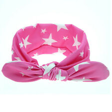 Baby Girl Rabbit Ears Hairband Bow Knot Headband Elastic Turban Headwrap 2016 Rose Red