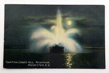 Cobbs Hill Reservoir Rochester Night Scene Postcard Divided Back Unposted N051