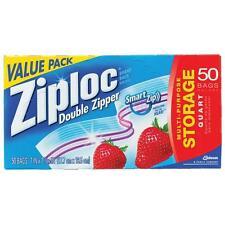 ZIPLOC HEAVY DUTY DOUBLE ZIPPER QUART STORAGE BAGS FREEZER BAGS ZIPLOCK GENUINE