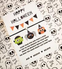 Halloween Wish String Bracelet! Halloween Favours / Gifts! BUY 5 GET 1 FREE!