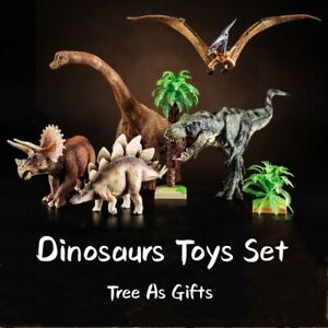 T-Rex Brachiosaurus Stegosaurus Triceratops Pterosaur Dinosaur figure Toys Set