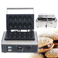 Commercial Stainless Electric Egg Cake Maker Non Stick Waffle Baker Machine USA