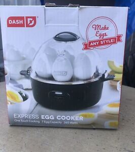 DASH Express Electric Egg Cooker 7 Capacity  Hard Boiled Poached Scrambled NEW