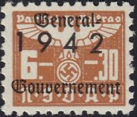 Stamp Germany Revenue Poland WWII 1942 3rd Reich War Era Party Dues GG 06.30 MNH