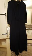 Ladies All In One Cat Suit Trouser Suit Size 12 Navy Blue Boo Hoo Bnwt