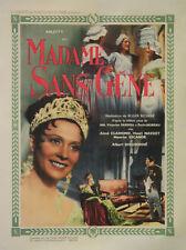 """""""MADAME SANS-GÊNE"""" Affiche originale entoilée (ARLETTY, Albert DIEUDONNE)"""