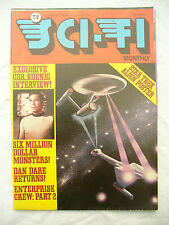 TV SCI FI MONTHLY No 6 magazine / fold out poster 1976 issue