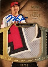 Mike Trout 2017 Topps Tier One Jumbo Jersey Letter Signed MLB AUTHENTIC AUTO
