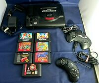 Vintage Sega Genesis Console Game Lot 12 16 Bit Console Controllers 7 Games