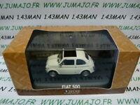 IT1G voiture 1/43 atlas NOREV voiture de mon père : FIAT 500 blanche