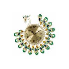 Horloge paon Ø 50 cm mouvement silencieux