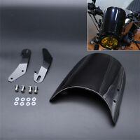 """Motorrad Windschutzscheibe für 5"""" 7"""" Scheinwerfer Yamaha Honda Kawasaki Suzuki"""