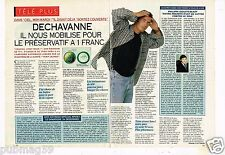 Coupure de presse  Clipping 1993 (2 pages) Christophe Dechavanne