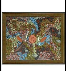 Gabriella Possum Nungurrayi Aboriginal Indigenous Framed PaintingArt