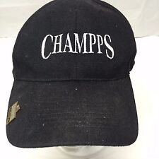 Champps Men's Black Baseball Hat Cap Adjustable One Size  Zkapz MVP Pin