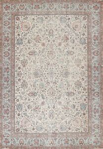 Antique Vegetable Dye Floral Traditional Oriental Area Rug Hand-Knotted 10x13 ft